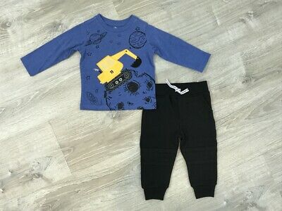 NEW Kids Headquarters Baby Boys T-Shirt & Jogger Pants Set, Size 12M, 24M