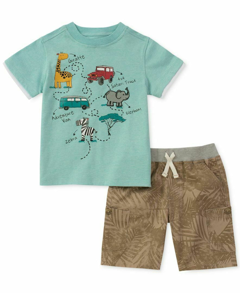 NEW Kids Headquarters Boys Graphic Print T-Shirt & Shorts Set, Sz 4