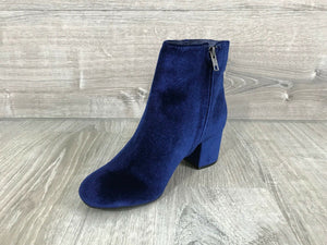 NIB Rebel by ZIGI Nanon Block-Heel Booties, Navy Multiple Sizes