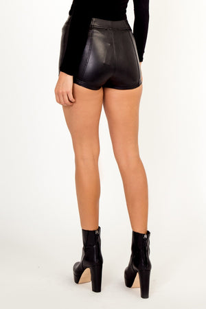 Jasmine Pleather Shoelace Shorts