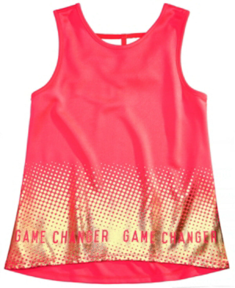 NWT Ideology Big Girls Graphic-Print Tank Top, Flamingo Pink Sz. XL