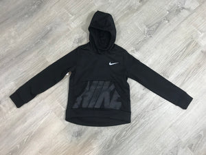 NEW NIKE Girls Therma Dri Fit Pullover Hoodie, Black Size M