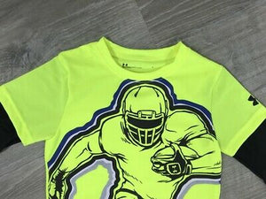 NWD Under Armour Little Boys Mock Layer Football Hero Graphic Tee, Sz. 4