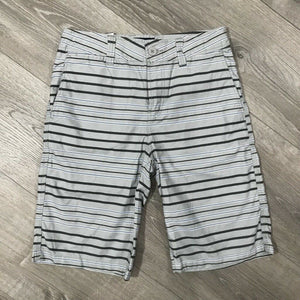 NWT Univibe Bridgeport Striped Cotton Shorts, Gray, Sz. 14H