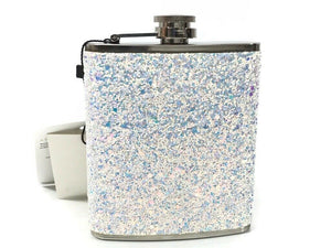 NEW SkinnyDip Stainless Steel Glitter 7 oz Hip Flask