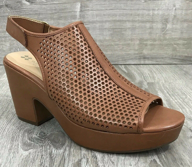 NIB Naturalizer Women's Ella Platform Sandals, Saddle Tan Sz. 11M