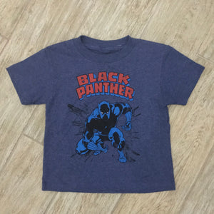 NEW MARVEL Little Boys Black Panther Graphic Print T-Shirt Sz 4