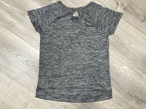 NWT Ideology Big Girls Graphic-Print Keyhole T-Shirt, Gray Sz. L/14