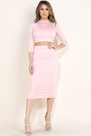 Anna Crop Top and Skirt Set