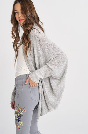 Layla Long Sleeve Fine Open Cardigan