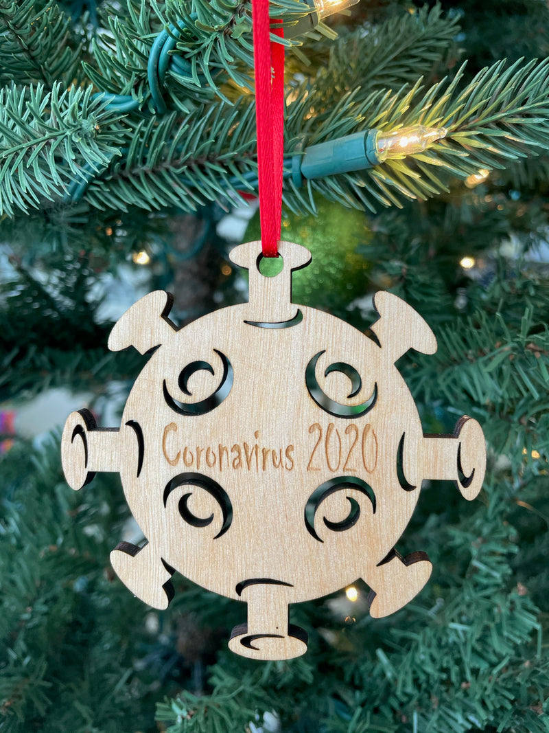 Coronavirus 2020 Laser Cut Wooden Ornament