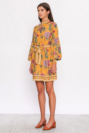 Eleanor High Neck Floral Shift Dress