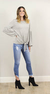 Pyper Off The Shoulder Self Tie Sweater