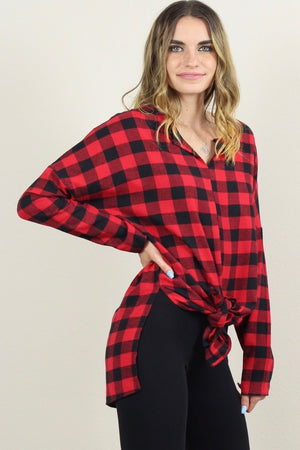 NEW Angelica Long Sleeve Plaid Button Down Shirt
