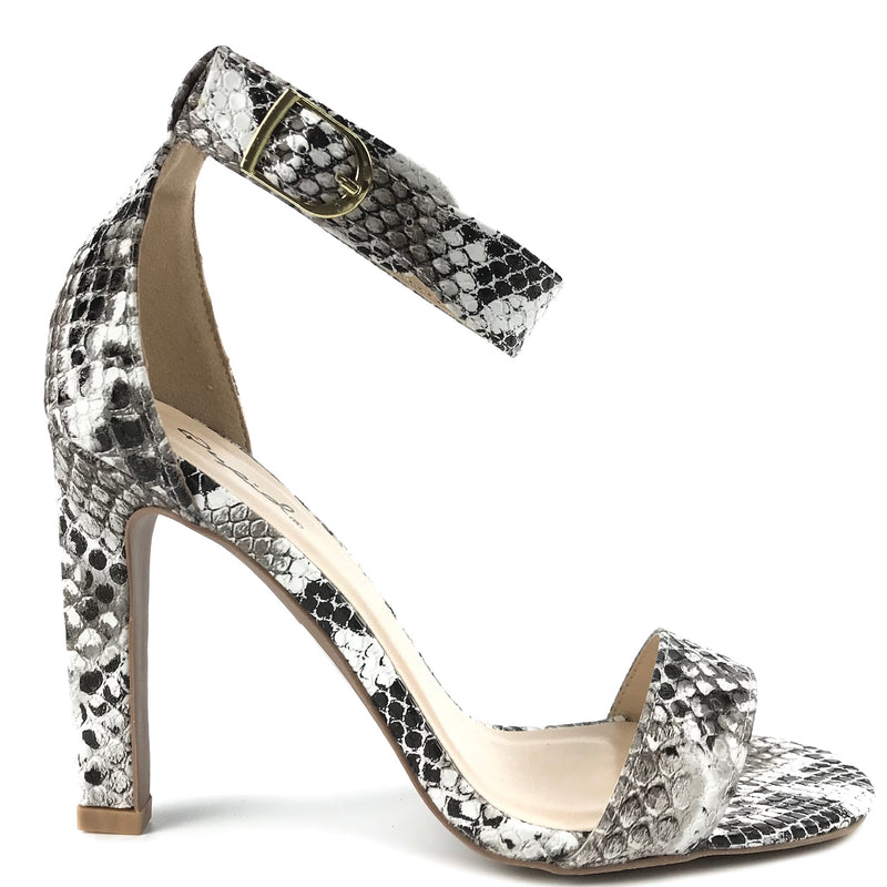Bella Snake Print High Heel Sandals