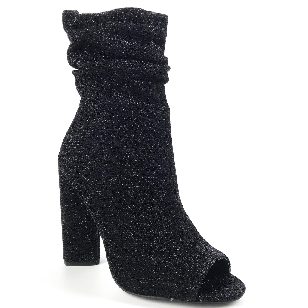 Luna Stretch Open Toe Booties