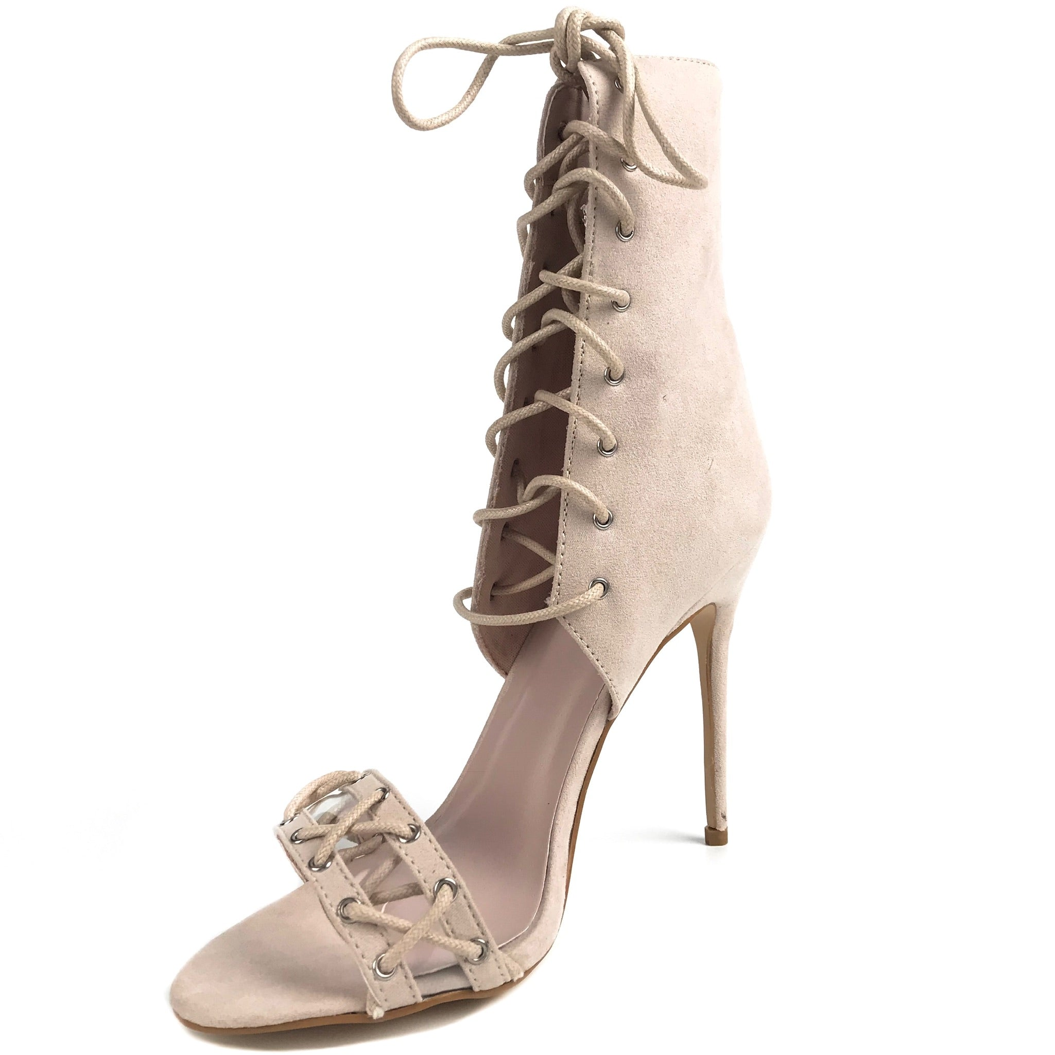 1a37baa54bf65 Izabella Suede Look Nude Strappy Heels – The Iconic USA
