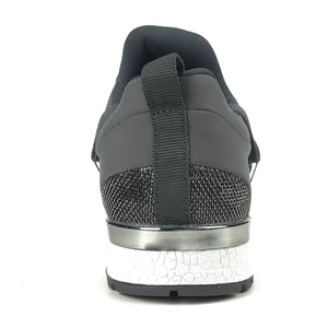 Hallie Charcoal Knit Sneakers