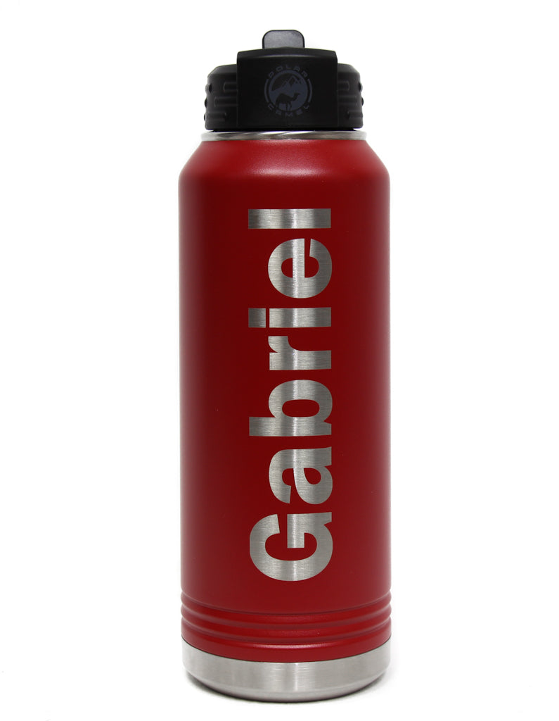 NEW Polar Camel Powder Coated Stainless Steel Personalized 32oz Water Bottle