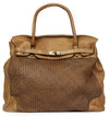 NEW AB Vintage Italian Soft Washed Calfskin Woven Leather Shoulder Bag
