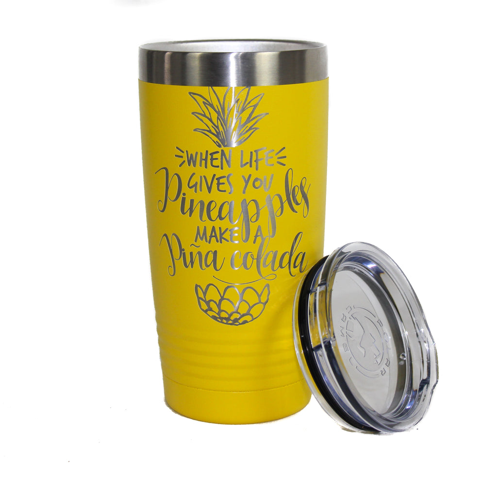 NEW Polar Camel Stainless Steel Pina Colada Travel Tumbler
