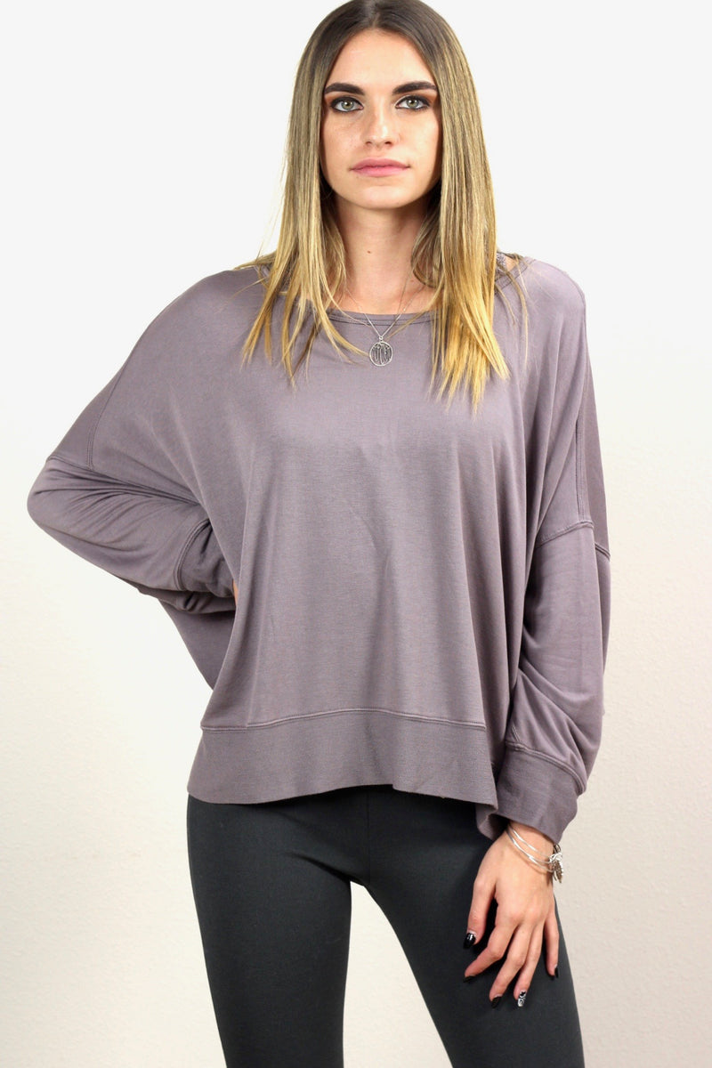 Serenity Reversible Long Sleeve Crossover Top