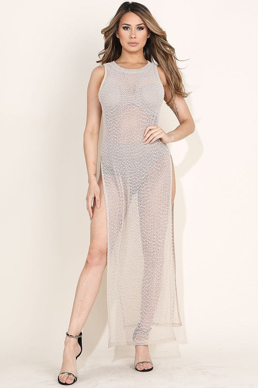Khloe Knit Mesh Coverup Dress