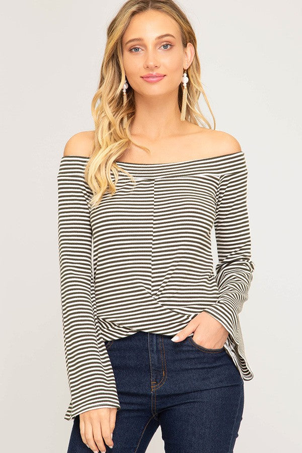 Gianna Off The Shoulder Bell Sleeve Top