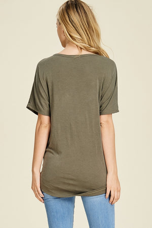 Thea V Neck Self Tie Cupro Top