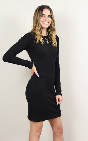 Felicia Lace-Up Sweater Dress