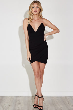 Lily Sleeveless Deep V Wrap Dress