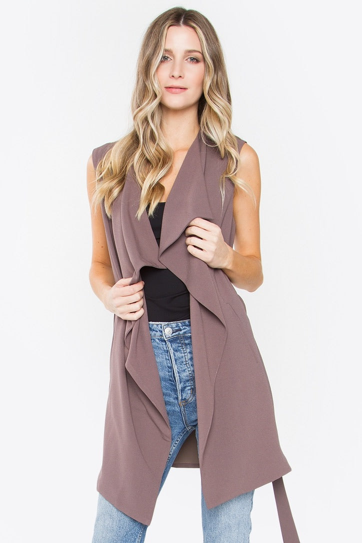 Savannah Sleeveless Trench Vest
