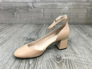 NIB $160 Cole Haan Warner Grand D'Orsay 55M Leather Pumps, Nude Sz. 8B