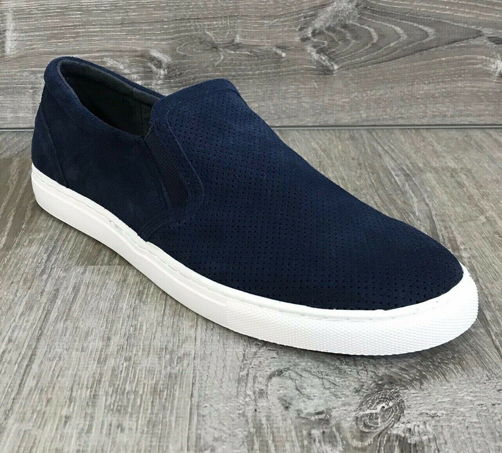 NIB $69 Bar III Men's Brant Slip-On Sneakers, Navy Multiple Sizes