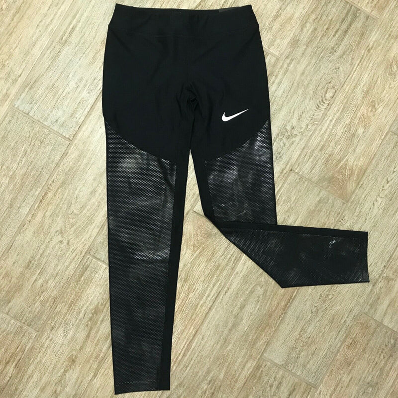NEW NIKE Power Dri-Fit Girls Tight Core Textured Leggings, Size XL