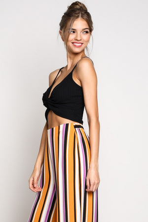Leah Front Twisted Crop Top
