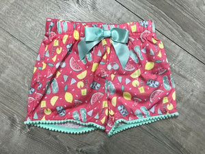 NEW Max & Olivia Girls Printed Pajama Shorts, Little Tropical Punch Sz S