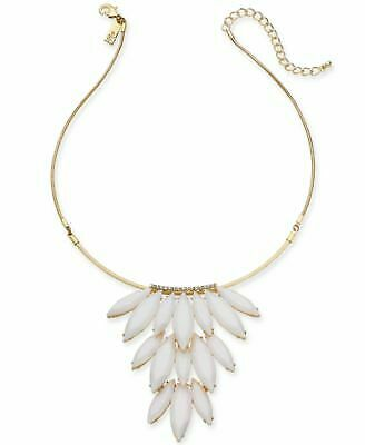 NWT INC International Concepts Gold-Tone Stone Cluster Statement Necklace