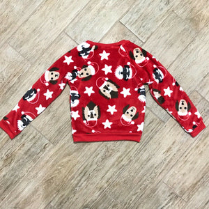 NEW EVY OF CALIFORNIA Big Girls Doggy Christmas Pullover, Sz. 6