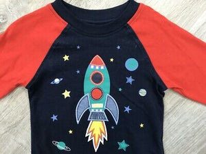 NEW Kids Headquarters Baby Boys Rocket Print T-Shirt & Twill Jogger Pants Set