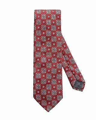 NWT ETON Red Tile Medallion Made in Italy Silk Tie MSRP $145