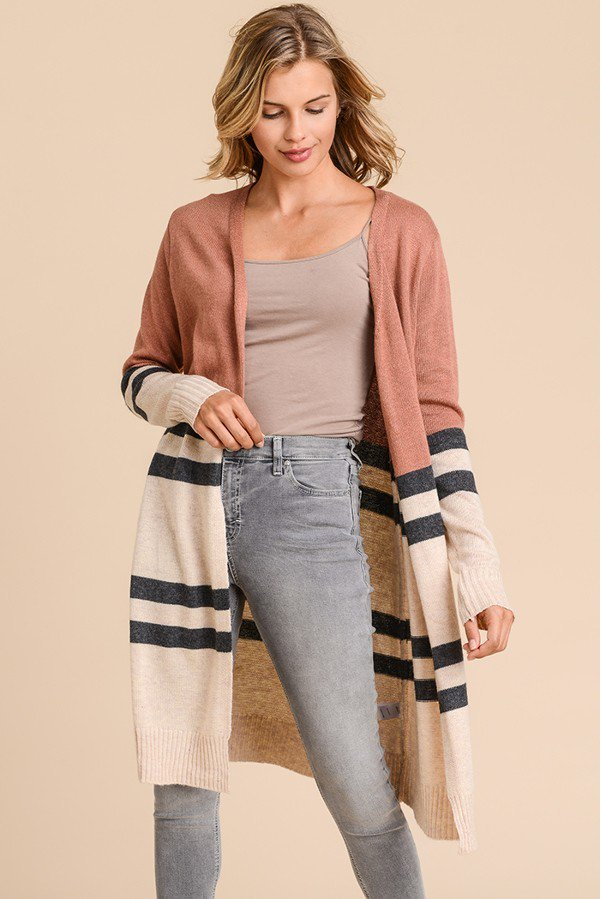 Adeline Long Sleeve Pocket Cardigan