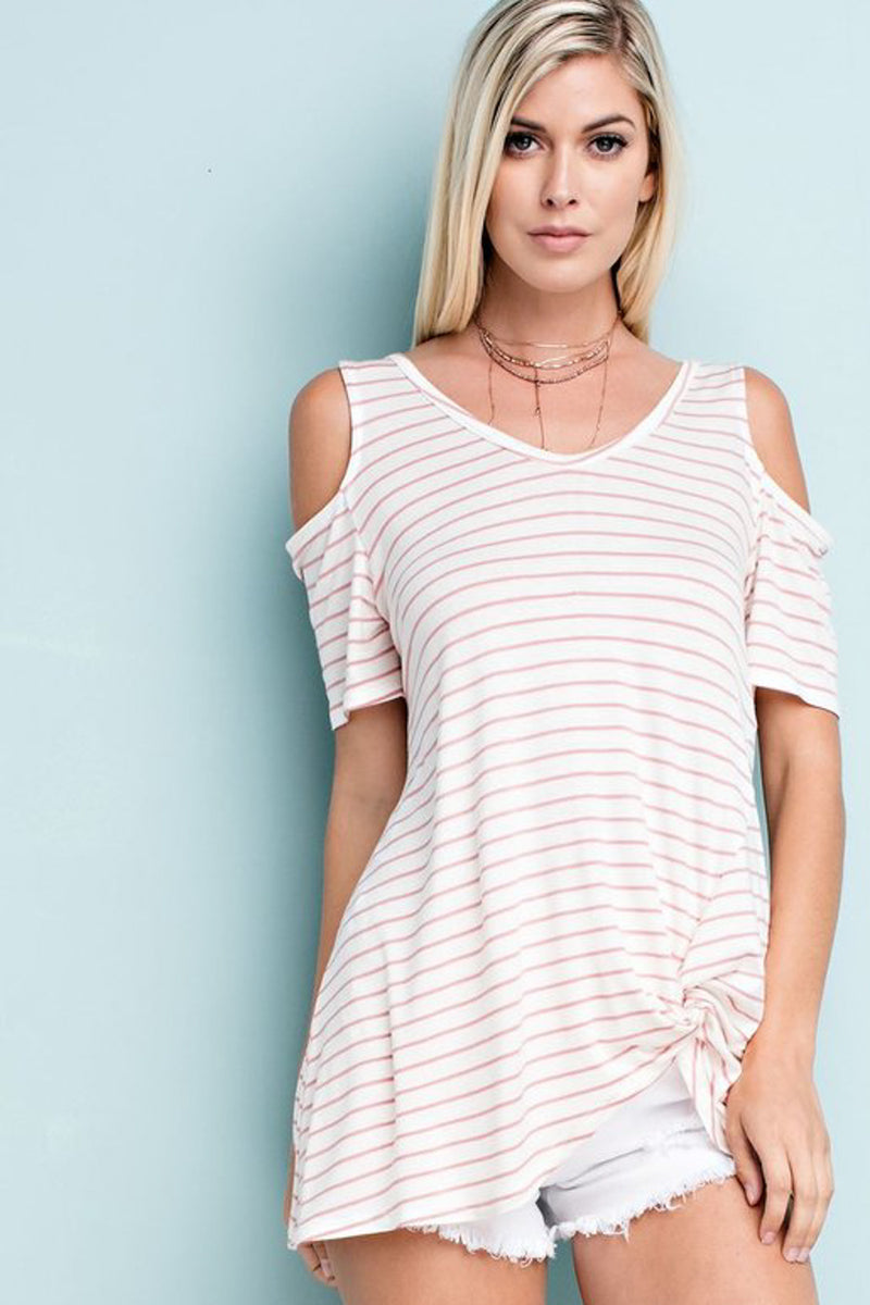 Aviva Cold Shoulder Sleeves Top