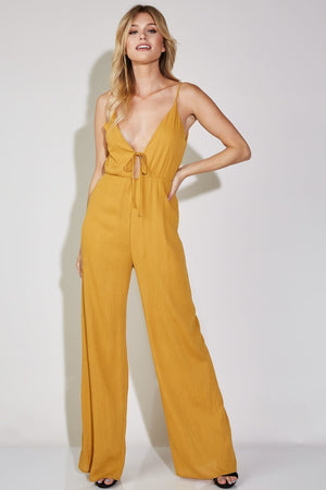 Isabella Deep V Neck Jumpsuit