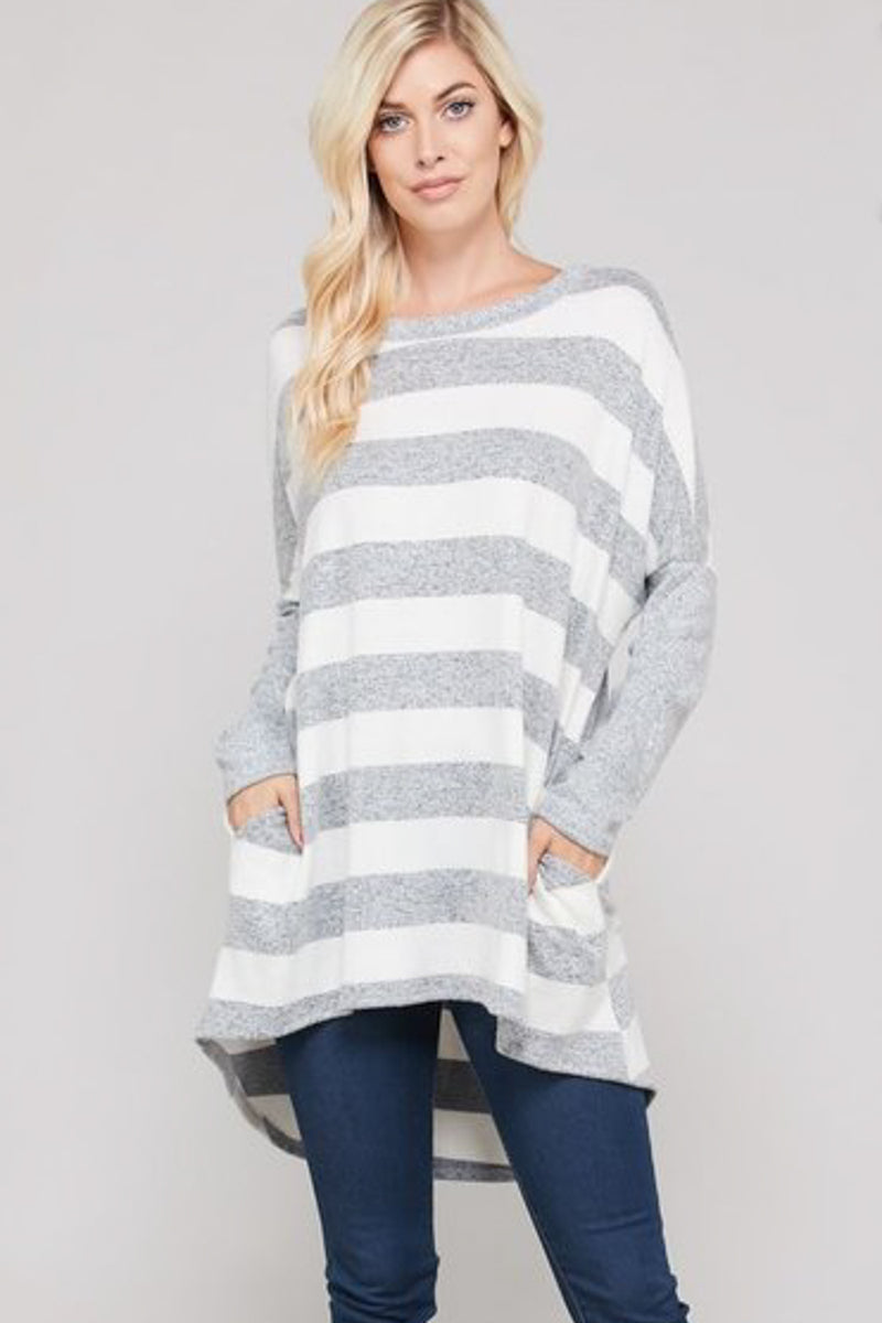 Ellia Striped Top Sweater