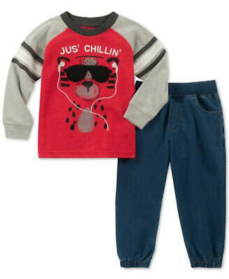 NEW Kids Headquarters Baby Boys Jus' Chillin' T-Shirt & Jogger Pants Set