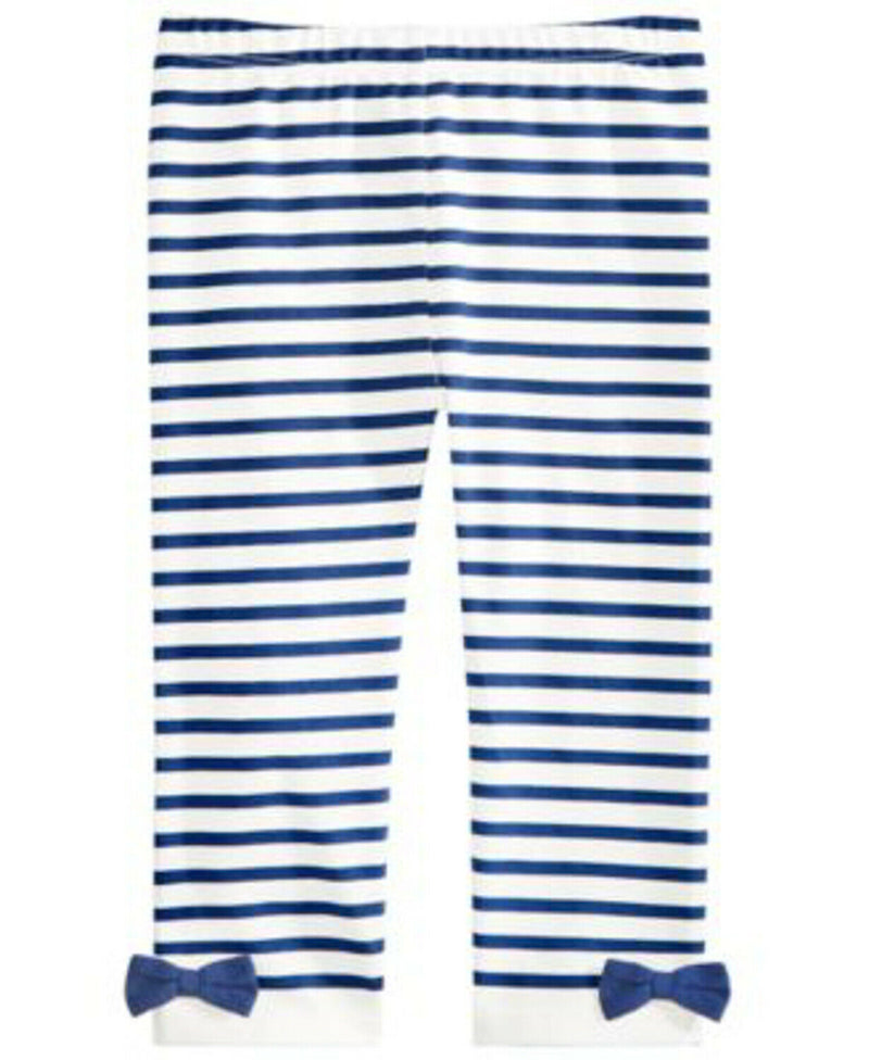 NWT First Impressions Baby Girls Striped Bow Legging, 24M