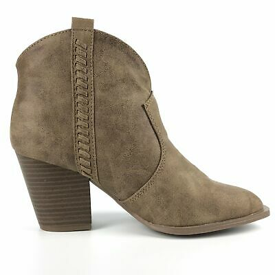 Millie Distressed Taupe Ankle Booties