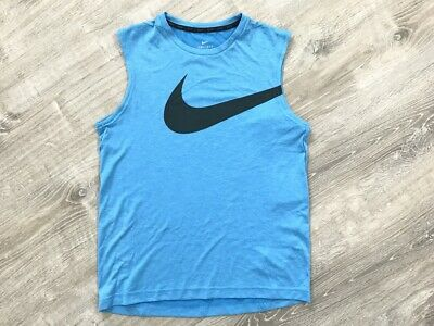 NEW Nike Big Boys Breather Dry Fit Sleeveless T-Shirt, Blue Sz. L, XL