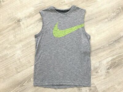 NEW Nike Big Boys Breather Dry Fit Sleeveless T-Shirt, Gray Sz. L, XL
